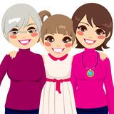 Three Generation Family Women Stock Photo