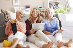 Three generation of women with glasses Stock Photography