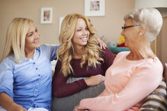Three generation of women Royalty Free Stock Photography