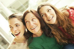 Three generation women Stock Images