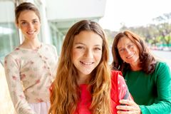 Three generation women having fun royalty free stock image