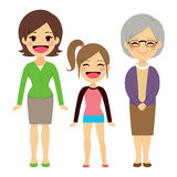 Three Generation Women Royalty Free Stock Images