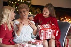 Three generation of women Stock Photo