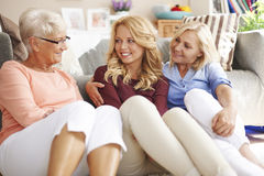 Three generation of women royalty free stock images
