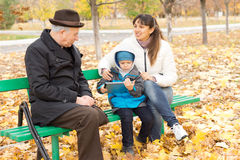 Three generations Royalty Free Stock Photos