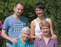 Three generations of family Royalty Free Stock Photos