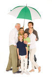 Three generations family standing Royalty Free Stock Image