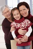 Three generations of happy women Stock Photos