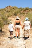 Three generations Hiking Stock Images