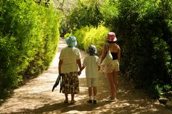 Three generations Hiking Stock Photo