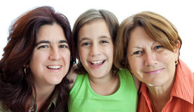 Three generations of latin women Stock Image