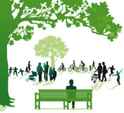 Three generations in the park Royalty Free Stock Images