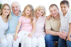 Three generations Royalty Free Stock Images
