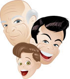 Three generations in retro Stock Images
