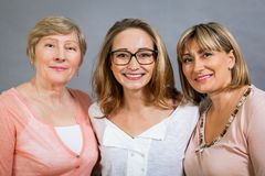 Three generations with a striking resemblance Stock Image