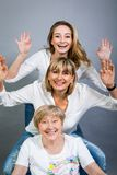 Three generations with a striking resemblance Royalty Free Stock Image