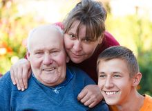 Three Generations Together Royalty Free Stock Photos