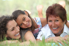 Three generations of women Stock Images