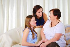 Three generations of women together Stock Photography