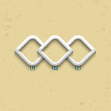 Three geometric numbered banners Royalty Free Stock Photos