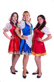 Three  German/Bavarian women Royalty Free Stock Images