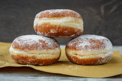 Three German doughnuts Royalty Free Stock Photography