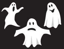 Three ghosts Royalty Free Stock Images