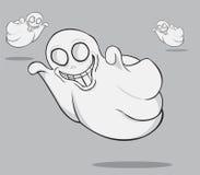 Three Ghosts illustration Stock Photos