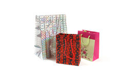 Three gift bags Royalty Free Stock Photos