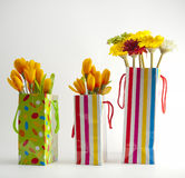 Three gift bags Royalty Free Stock Photo