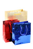 Three gift bags Stock Photography
