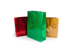 Three gift Bags. On white background Stock Photos