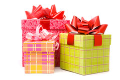Three gift box Stock Images