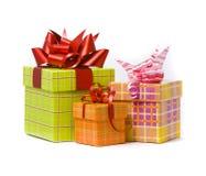 Three gift box studio shot Stock Images