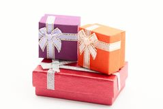 Three gift boxes Stock Photography
