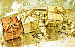 Three gift boxes Royalty Free Stock Photos