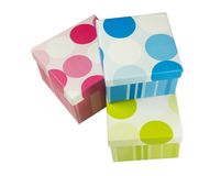 Three gift boxes Stock Images