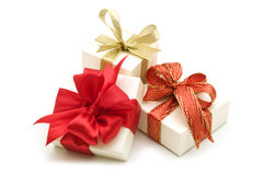 Three gift boxes Royalty Free Stock Photo