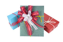Three gift boxes. Stock Image