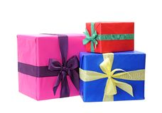 Three gift boxes Royalty Free Stock Image