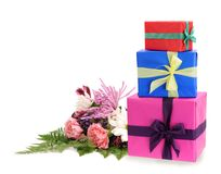 Three gift boxes Royalty Free Stock Photos