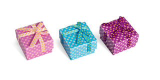 Three Gift Boxes Stock Image