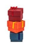 Three gift boxes Stock Photos