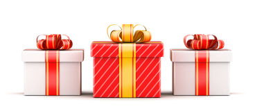 Three gift selection concept Royalty Free Stock Images