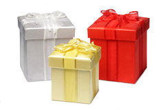 Three gifts Royalty Free Stock Images