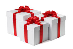 Three gifts. Royalty Free Stock Photo