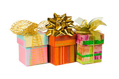 Three gifts Stock Image