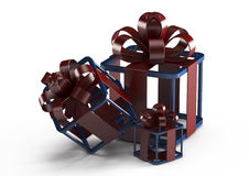 Three gifts, abstract design Stock Photo