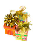 Three gifts Stock Images