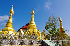 Three gilded sharp pagoda Stock Image